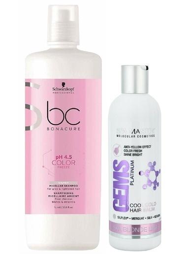 Bonacure pH 4.5 Renk Koruyucu Micellar Silver Şampuan 1000ml + Silver Maske 330ml Renksiz